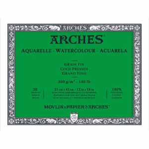 Arches Watercolor Blocks - Natural White 12 x 16 in Cold Press 300gsm (140lb)