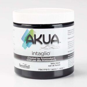 Akua Intaglio Inks - Lamp Black 237 ml (8 OZ)