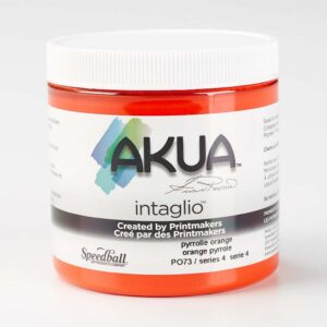 Akua Intaglio Inks - Pyrrole Orange 237 ml (8 OZ)