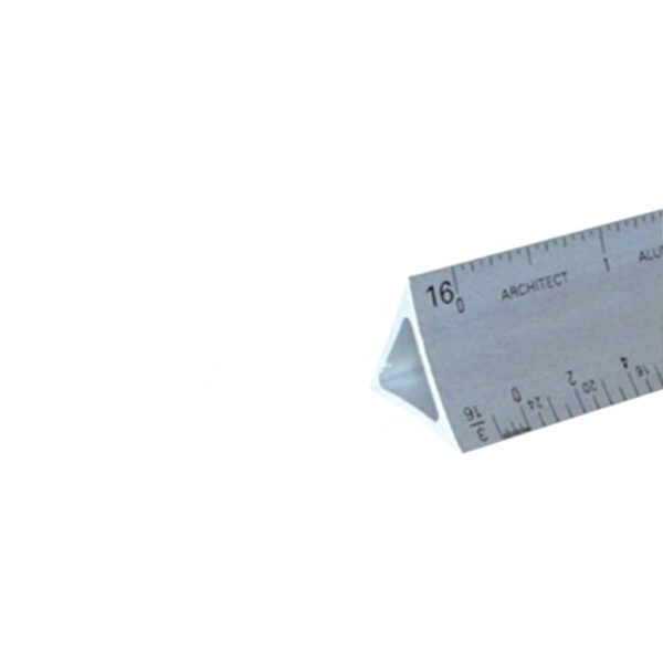Alumicolor Architect Triangular Scales - Soled Silver 12 in