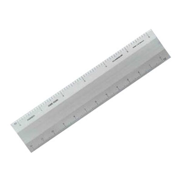 Alumicolor Four Bevel Scales Silver 12 in