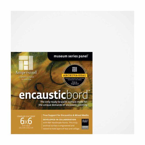 Ampersand Encausticbords - Cradled 2 in Profile 6 in x 6 in