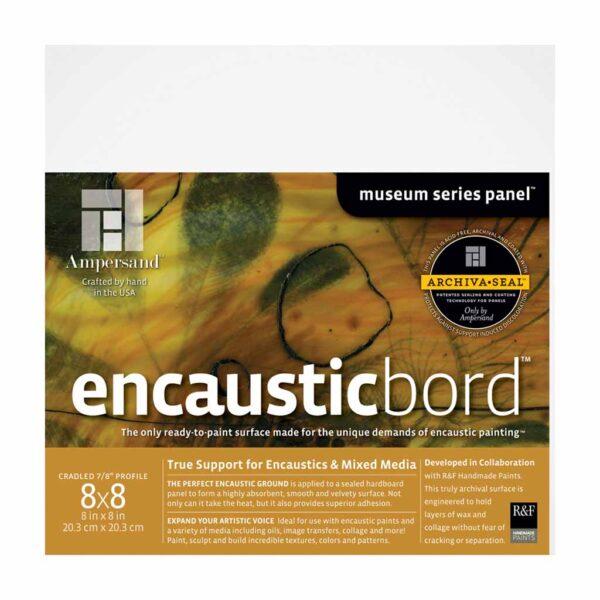 Ampersand Encausticbords - Cradled 7/8 in Profile 8 in x 8 in