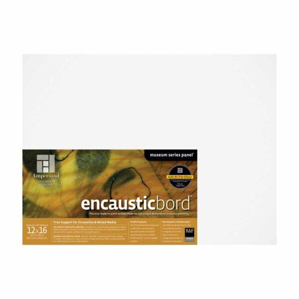 Ampersand Encausticbords - Cradled 7/8 in Profile 12 in x 16 in