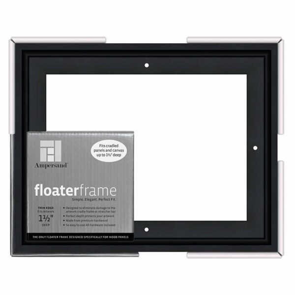 Ampersand FloaterFrames Thin - Black 1-1/2 in Profile 8 in x 10 in