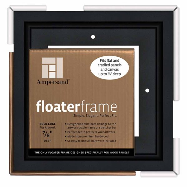 Ampersand FloaterFrames Thin - Black 7/8 in Profile 6 in x 6 in