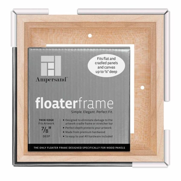 Ampersand FloaterFrames Thin - Maple 7/8 in Profile 6 in x 6 in