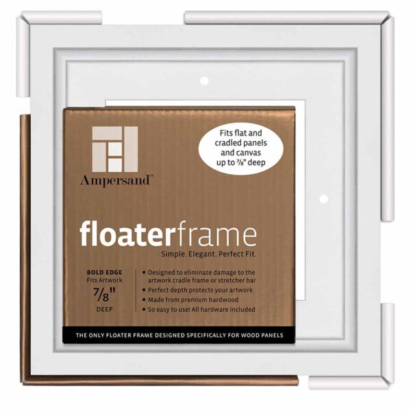 Ampersand FloaterFrames Thin - White 7/8 in Profile 6 in x 6 in