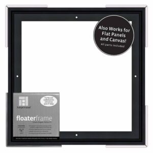 Ampersand FloaterFrames Thin - Black 7/8 in Profile 12 in x 12 in