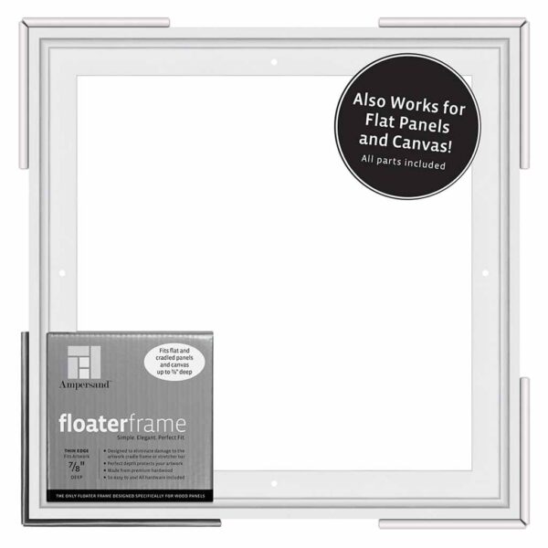 Ampersand FloaterFrames Thin - White 7/8 in Profile 12 in x 12 in