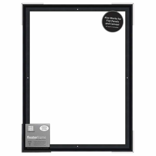 Ampersand FloaterFrames Thin - Black 7/8 in Profile 18 in x 24 in