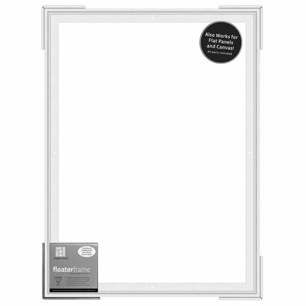 Ampersand FloaterFrames Thin - White 7/8 in Profile 18 in x 24 in