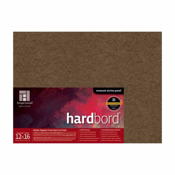 Ampersand Hardbord - Cradled 2 in Profile 12 in x 16 in