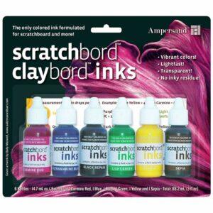 Scratchbord Ink Set