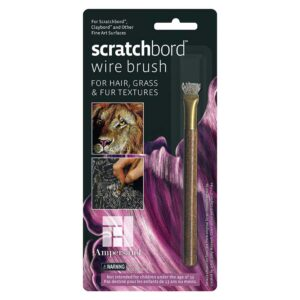 Scratchboard Wire Brush Packaged