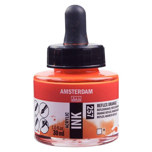 Amsterdam Acrylic Inks - Reflex Orange - 257 30 ml (1 FL/OZ)