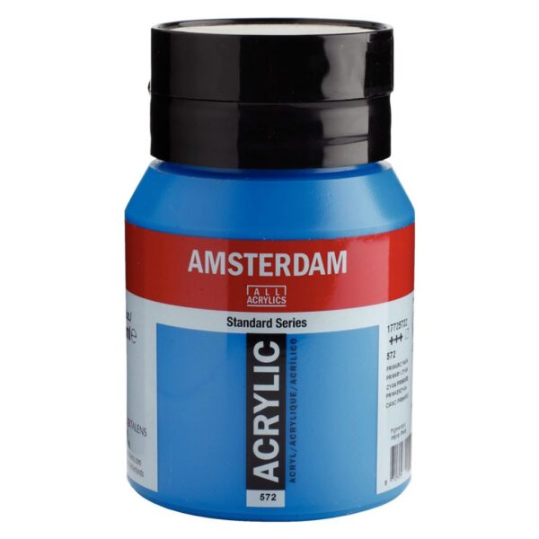 Amsterdam Standard Acrylic Colors - Primary Cyan 572 500 ml (16.9 OZ)