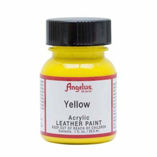 Angelus Acrylic Leather Paint - Yellow 075 30 ml (1 OZ)