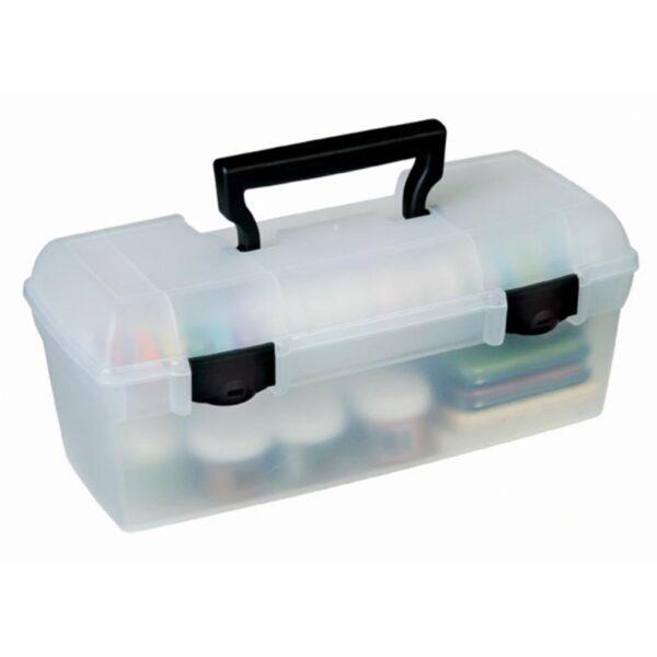 Artbin Essentials Art Supply Boxes - Translucent 83805 1 Tray 13in Closed