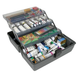 Artbin Upscale 3 Tray Box - Slate Grey 8413 - 14.5in x 8in x 7in