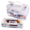 Artbin Twin Top Storage Box Translucent 6918AB Open