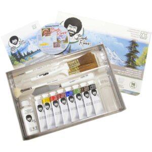 Bob Ross Master Paint Kit Open