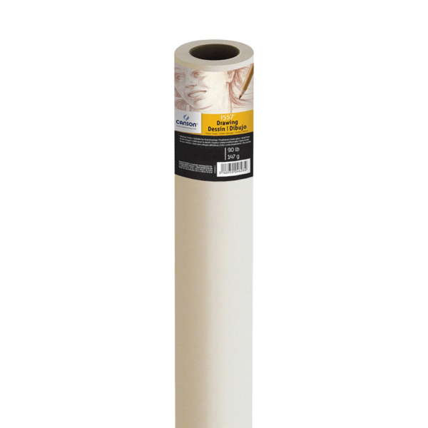Canson Cream Drawing Paper - 48 in x 10 Yds 147gsm (90lb)