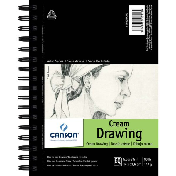 Canson Cream Drawing Paper - 5.5 x 8.5 in 147gsm (90lb)