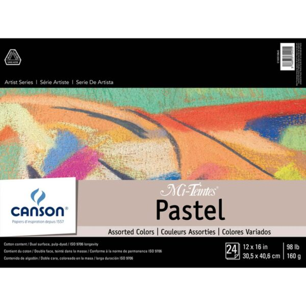 Canson Mi-Teintes Pastel Pads - Assorted 12 x 16 in 160gsm (98lb)