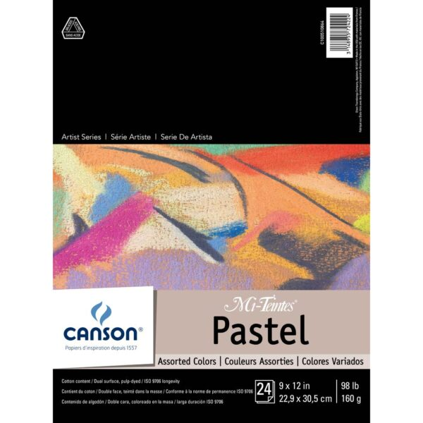 Canson Mi-Teintes Pastel Pads - Assorted 9 x 12 in 160gsm (98lb)