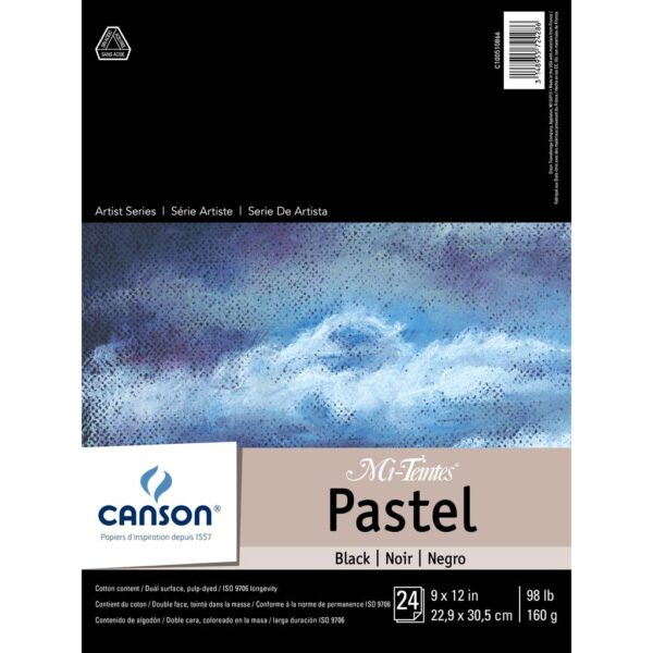 Canson Mi-Teintes Pastel Pads - Black 9 x 12 in 160gsm (98lb)