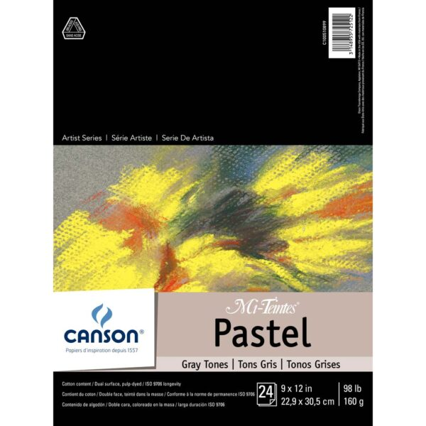 Canson Mi-Teintes Pastel Pads - Gray 9 x 12 in 160gsm (98lb)