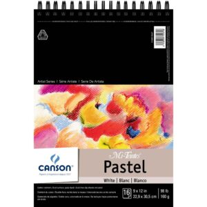 Canson Mi-Teintes Pastel Pads - White w/Glassine 9 x 12 in 160gsm (98lb)