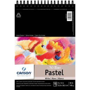 Canson Mi-Teintes Pastel Pads - White w/Glassine 9 x 12 in 160gsm (98lb)