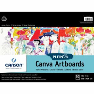 Canson Plein Air Canva Artboard - White 12 x 16 in 2 Ply (1.5mm)