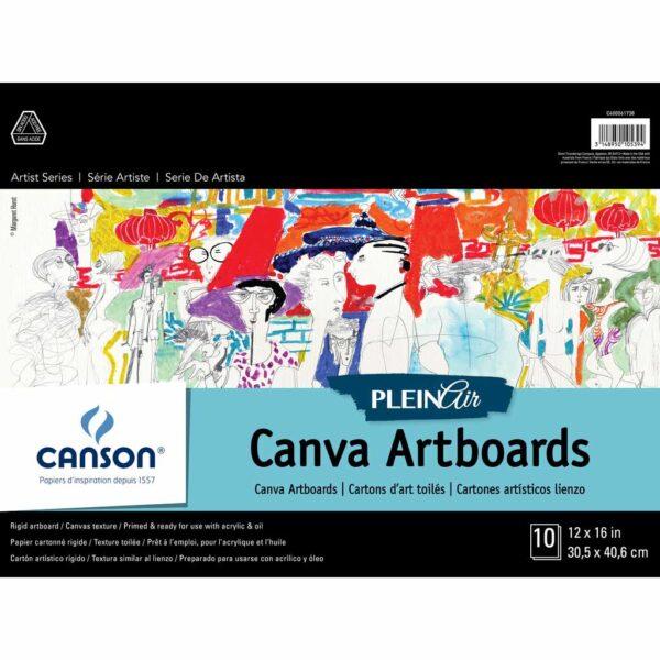 Canson Plein Air Canva Artboard - White 12 x 16 in 2 Ply (1.5mm)