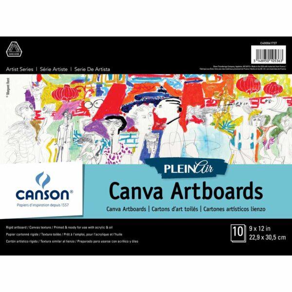 Canson Plein Air Canva Artboard - White 9 x 12 in 2 Ply (1.5mm)