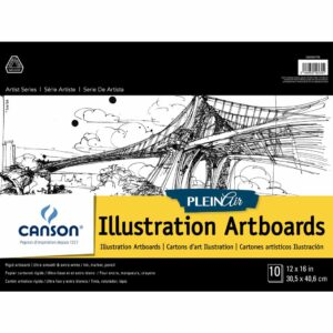 Canson Plein Air Illustration Artboard - White 12 x 16 in 2 Ply (1.5mm)