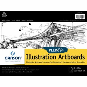 Canson Plein Air Illustration Artboard - White 9 x 12 in 2 Ply (1.5mm)