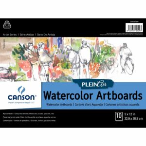 Canson Plein Air Watercolor Artboard - White 9 x 12 in 2 Ply (1.5mm)
