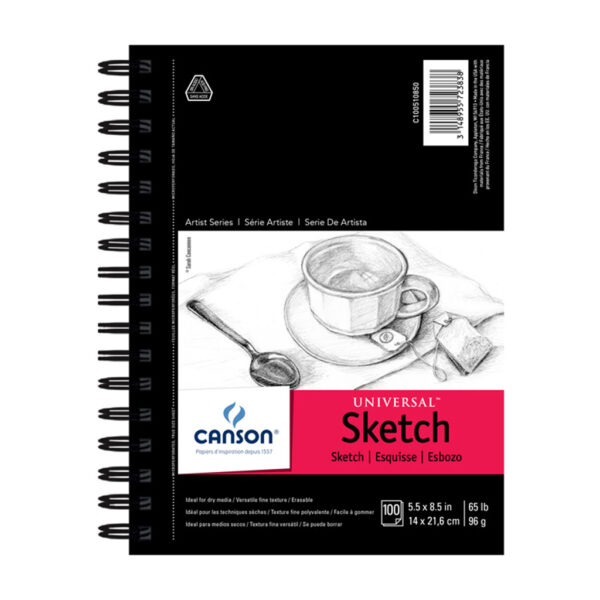 Canson Universal Sketch Pad - Natural White 5.5 x 8.5 in 96gsm (65lb)