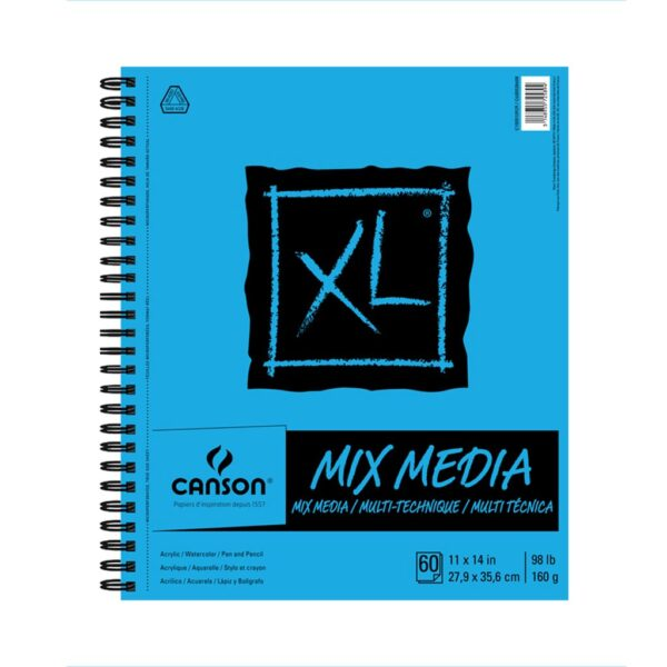 Canson XL Mix Media Papers - White 11 x 14 in 160gsm (98lb)