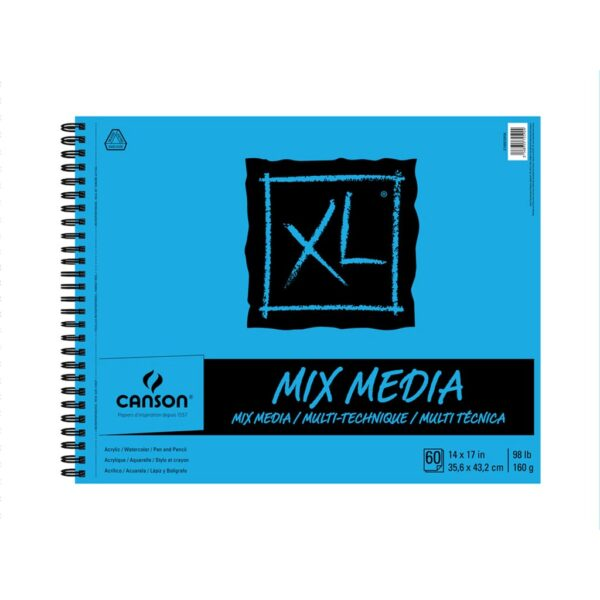 Canson XL Mix Media Papers - White 14 x 17 in 160gsm (98lb)
