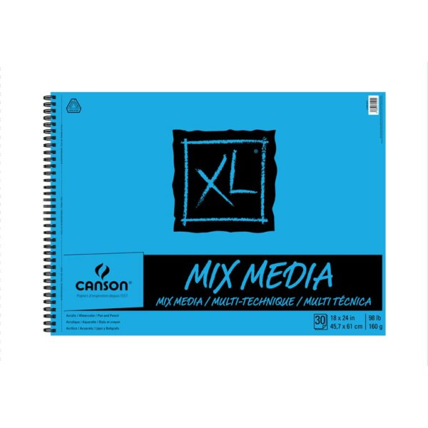 Canson XL Mix Media Papers - White 18 x 24 in 160gsm (98lb)