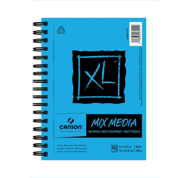 Canson XL Mix Media Papers - White 5.5 x 8.25 in 160gsm (98lb)