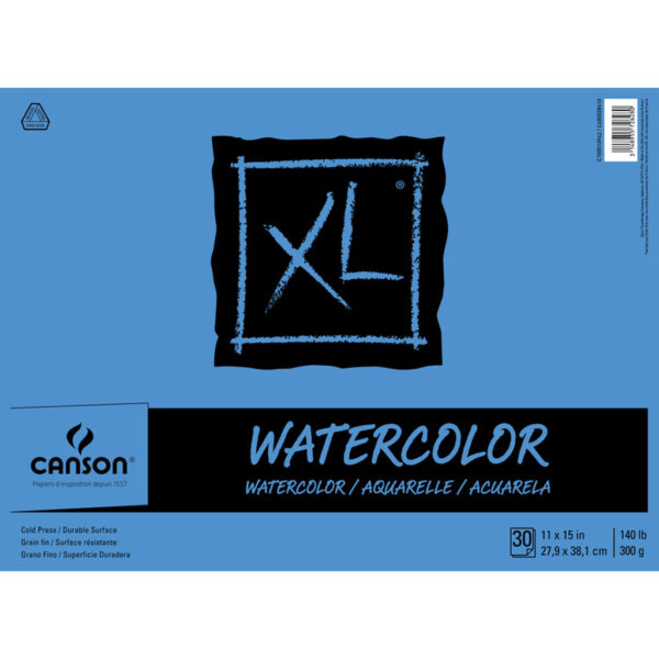 Canson XL Watercolor Pads - Natural White 11 x 15 in Cold Press 300gsm (140lb)