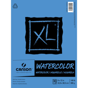Canson XL Watercolor Pads - Natural White 9 x 12 in Cold Press 300gsm (140lb)