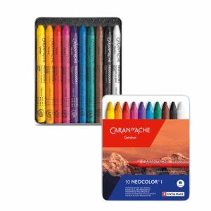 Caran dAche Neocolor I Wax Pastel Sets - Set 10 Color Tin Box