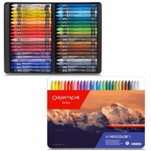 Caran dAche Neocolor I Wax Pastel Sets - Set 40 Color Tin Box