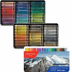 Caran dAche Neocolor II Artists Crayon Sets - 84 Color Tin Box
